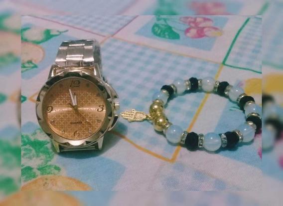 Relógio Femininos Lindos Quartzo Acompanhado Por Pulseira !!