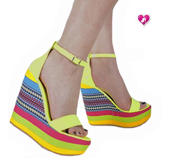 Sandalia Moda Taco Chino 2020 Model Budapest De Shoes Bayres