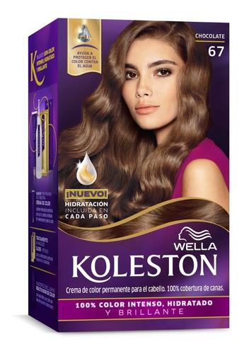 Tintura Wella Koleston Kit Permanente Chocolate 67