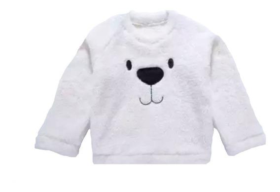 Blusa De Frio Moletom Casaco Urso Malha Infantil Inverno