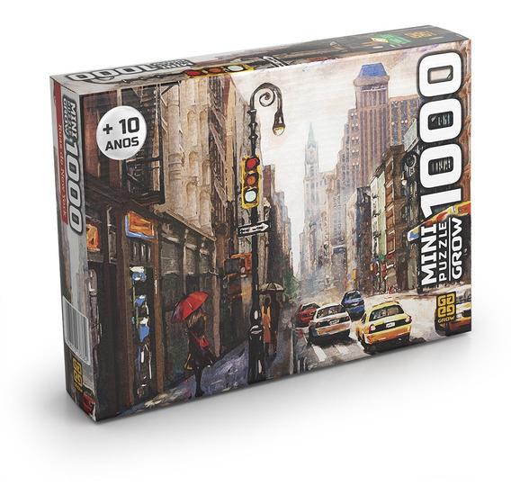 Mini Puzzle 1000 Peças Ruas De New York Grow