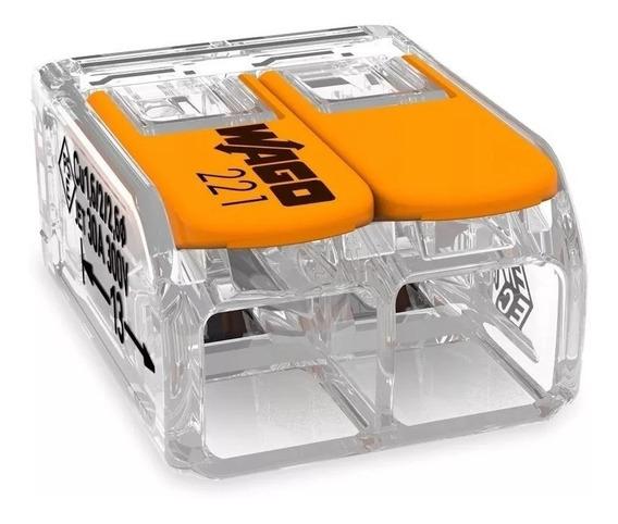 Conector Wago Para Chuveiro Kit Com 10 Unidades 221-612