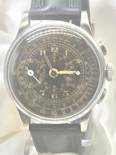 Relógio Uwaco Genève Militar Gilt Dial 1936 Relogiodovovô.