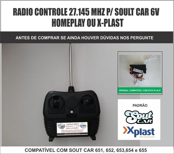 Controle Remoto 27.145mhz Para Soult Car Homeplay X-plast