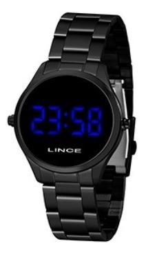 Relógio Lince Led Preto Mdn4617l Dxpx