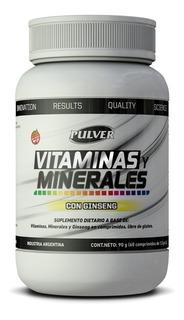 Vitaminas Y Minerales Con Ginseng Pulver 60comp Energia
