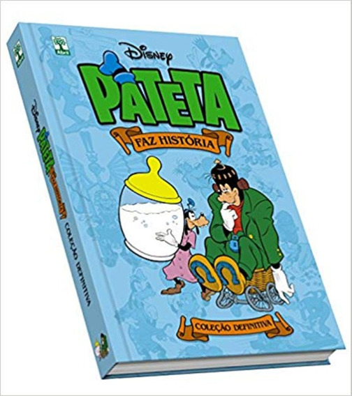 Livro Disney Azul Pateta Faz História Capa Dura