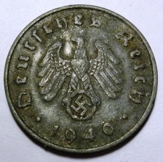 Alemania Nazi Moneda 10 Pfennig Vf- 1940 A
