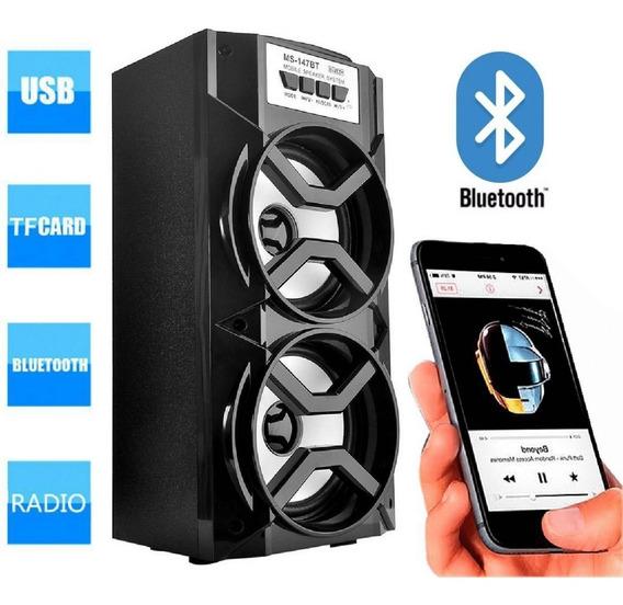 Caixa De Som Amplificada Portátil Bateria Bluetooth Fm A-20