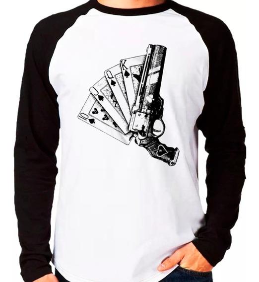 Camiseta Destiny 2 As De Espadas Cayde 6 Raglan Manga Longa