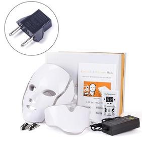 Kit Mascara Led Estética 7 Cores Facial Pescoço