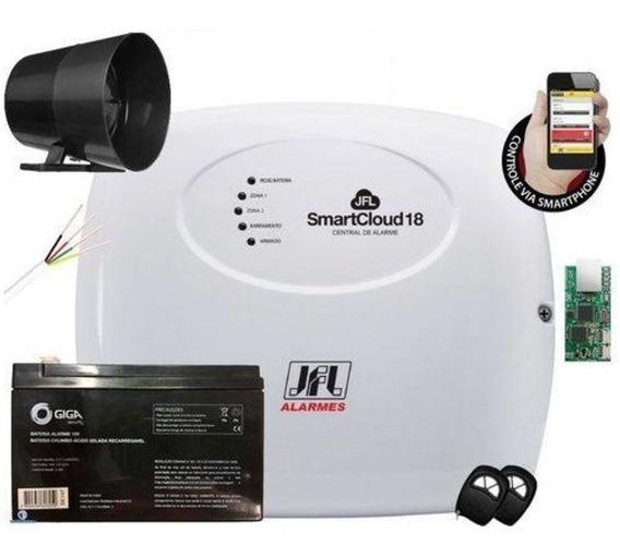 Kit Alarme Sem Fio Jfl 4 Sensores - Acesso Via Aplicativo