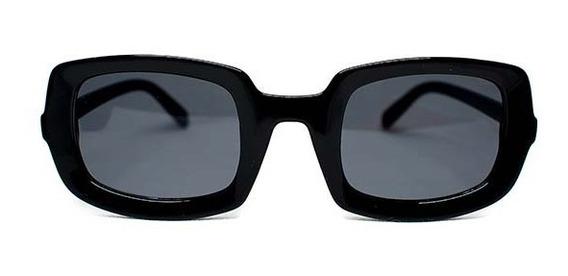 Lente De Sol De Pasta Cuadrado Color Negro, Glasses G3 P6478