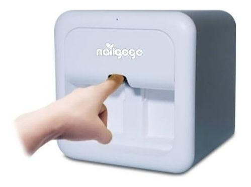 Kit De Impresora Para Uñas Portátil Nailgogo P Gel O Esmalte