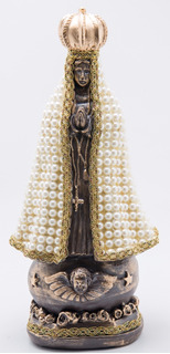 Imagem Nossa Senhora Aparecida Manto Pérola 40cm