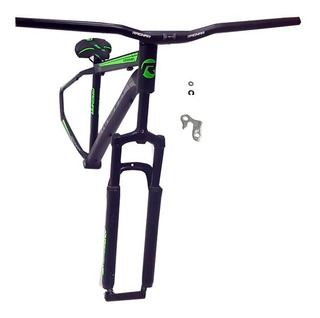 Kit De Aluminio 19x29 Quadro Guidao Selim Canote Garfo Verde