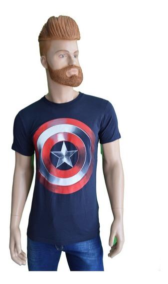 Playera Marvel Capitan America Original Mod 04 Envio Gratis