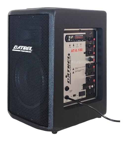 Caixa De Som Ativa Af 8 Bluetooth Usb Sd Fm 100w Promoção