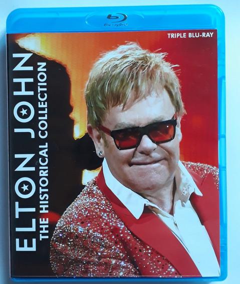 Bluray Triplo Elton John Videografia Legendado Frete Gratis