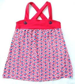 Vestido / Saida De Praia Coracoes Infantil Tip Top 2 Anos
