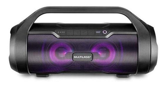 Caixa De Som Multilaser Super Bazooka Tws Bluetooth Preto