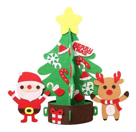 Decoración De Navidad No Tejida Diy Árbol De Navidad Kinderg