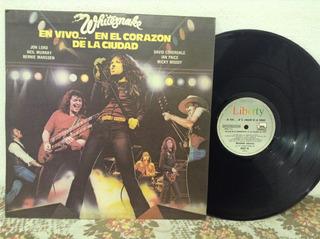 Whitesnake En Vivo En El Corazon De La Ciudad Lp Vinilo