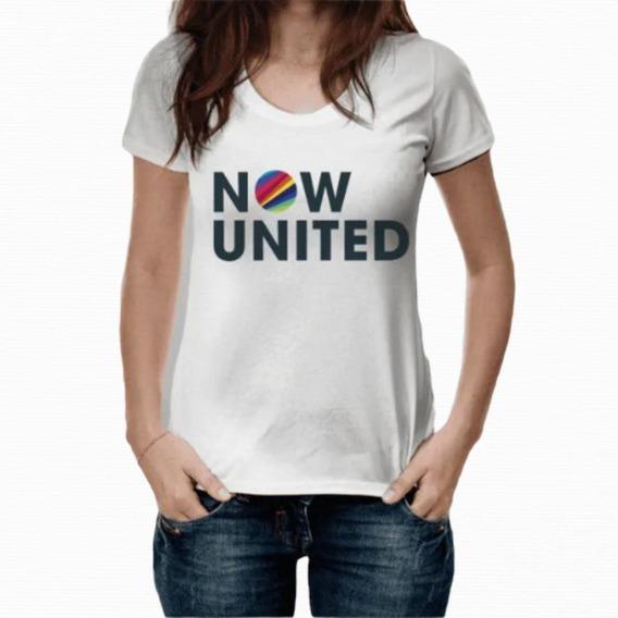 Camiseta Banda Now United Teen Girls Juvenil Blogueira Moda