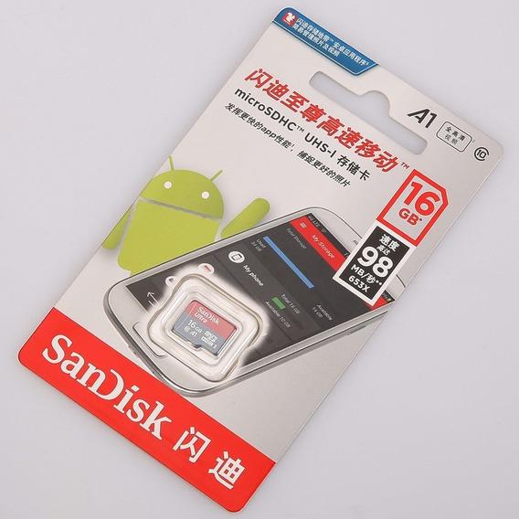 Cartão De Memória Sandisk 16gb Microsd Ultra C10 A1 Original