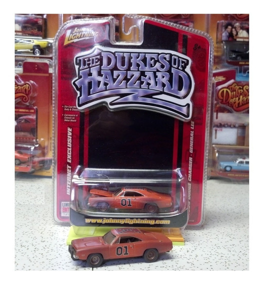 General Lee Sucio Johnny Lightning Rueda De Goma Solo Envios
