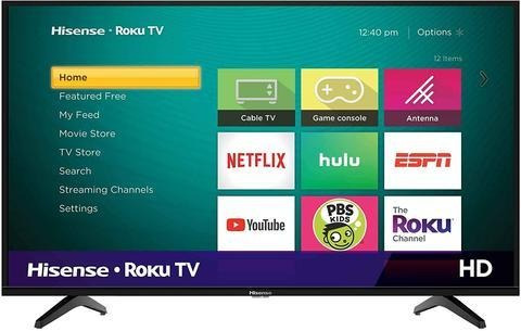 Televisor Hisense 43  Hd Smart Tv Roku Tv Usb Hdmi