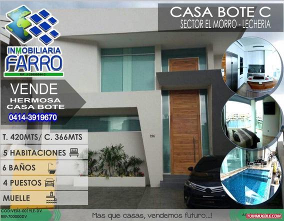Venta De Casa En Casa Bote C Lecheria Ve03-0019le-dv