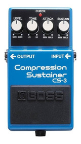 Pedal De Guitarra Cs-3 Compressor Sutainer - Cs3 Boss C/nfe