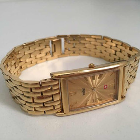 Relógio Suíço Feller Original Dourado Edição Limitada Usado