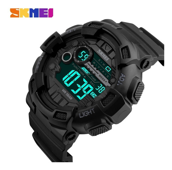 Relógio Digital De Pulso Shock Skmei À Prova D