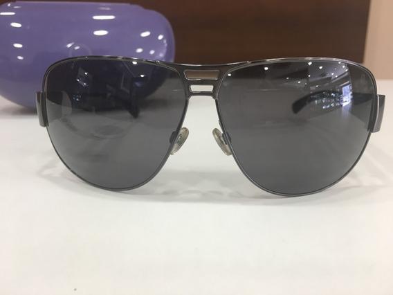 Óculos De Sol Benetton 7400 Aviador Cinza E Azul Unissex
