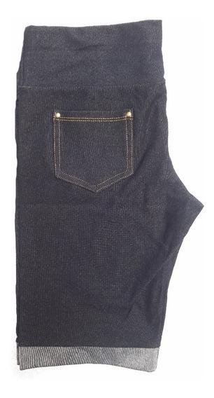 Kit Com 6 Short Cintura Alta Várias Cores P M G Gg Xg