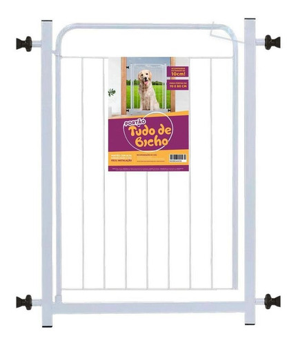 Grade De Proteção Pet  Tudo De Bicho Portão 70+10cm