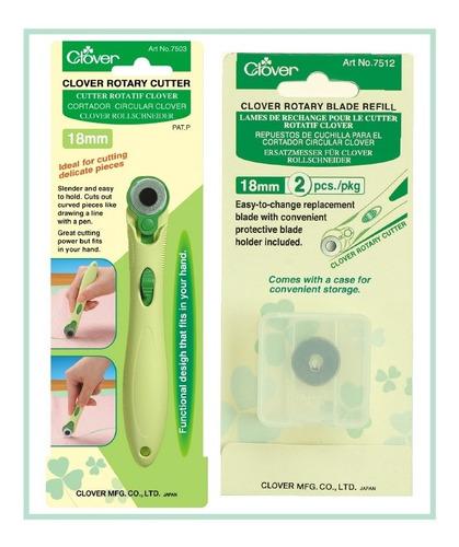 Kit Cutter Rotatorio 18mm Y Cuchillas De Repuesto Clover