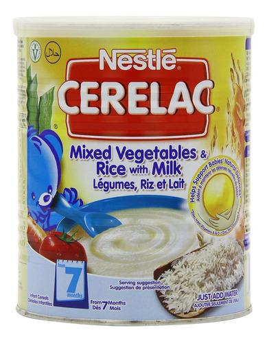 Imagen 1 de 7 de Nestle Cerelac, Mixed Verduras Y Arroz Con Leche, 400 G (14.