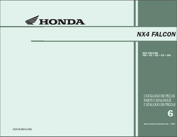 Honda Nx4 Falcon - Catalogo De Peças 2000 A 2004