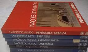 * Coleção Nações Do Mundo Lote C/ 6 Livros Titulos Nas Fotos