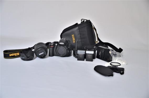 Kit Nikon D5100 + Lente+grip+bateria Extr + Sd Muito Nova