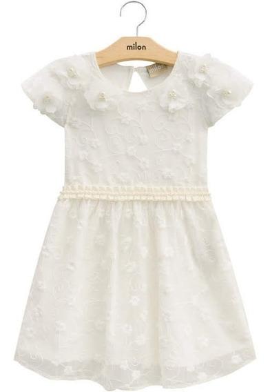 Vestido Milon Roupa Infantil Festa Luxo Tule Bordado 1 2 3