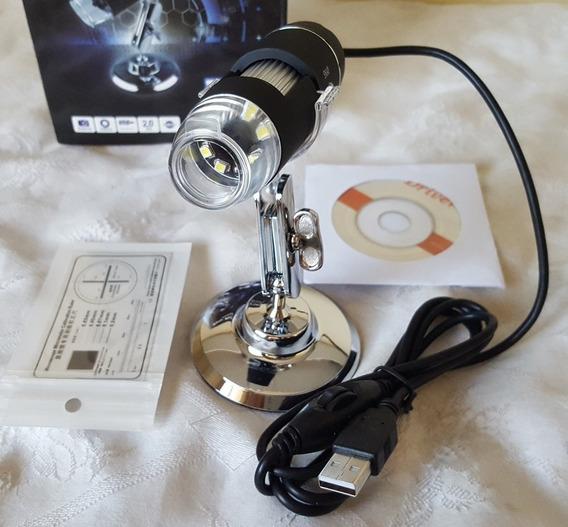 Microscópio Aumento 1000x Digital Usb Lupa Lente Aumento