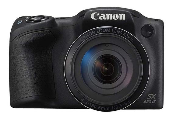 Canon PowerShot SX420 IS compacta avançada preta