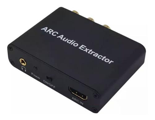 Extractor Audio Hdmi Arc Adaptador 3,5mm Estéreo Coaxial