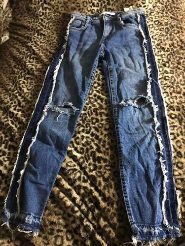 Jean Azul Zara Importado De España, Talle Eur 32, Usa C,