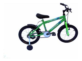 Bicicleta Aro 16 Masc Onix Verde Neon-aces Preto