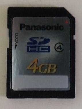 Memoria Sd Hc 4 Gb Panasonic Original Súper Rápida